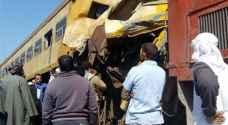 25 قتيلا وجريحا بتصادم قطارين شمال مصر