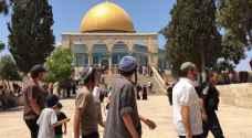2127 مستوطنًا اقتحموا المسجد الأقصى بشباط