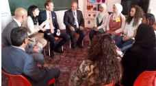 السفير البلجيكي يزور مدرسة الأميرة تغريد الاستكشافية