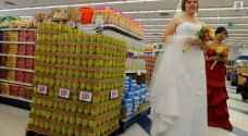 """أمريكا.. حفل زفاف وسط """"البازلاء والجزر"""""""