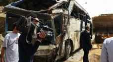 وفاة و41 اصابة بتدهور حافلة سياحية في لواء البترا .. فيديو وصور
