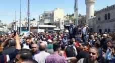 مسيرة في وسط عمان دعما للحراك الفلسطيني.. فيديو وصور