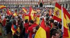 تظاهرة في برشلونة احتجاجا على استمرار اعتقال انفصاليين كاتالونيين
