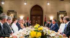 الملك والرئيس النمساوي يعقدان مباحثات في قصر الحسينية