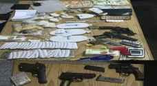 ضبط مروجين بحوزتهم مخدرات وأسلحة في عمان