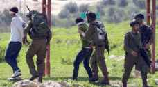 الاحتلال يعتقل عدة شبان بالضفة