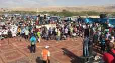 أردنيون يدعمون مسيرة العودة من البحر الميت.. فيديو
