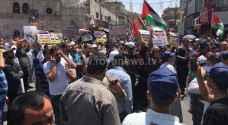 وقفة احتجاجية للحركة الإسلامية في عمان نصرة للقدس.. صور