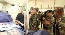 الملك يتابع تمرين إخلاء طبي نفذته مديرية الخدمات الطبية الملكية