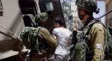 الاحتلال يعتقل 22 فلسطينيا