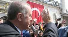 اردوغان يحتفل بإعادة انتخابه رئيسا لتركيا مع سلطات معززة
