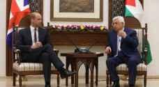 الأمير وليام يلتقي عباس في الضفة الغربية