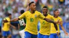 نيمار يضرب المكسيك ويضع البرازيل في ربع نهائي المونديال