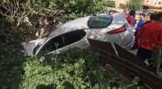مفحط يتسبب بحادث سير في عمان ويلوذ بالفرار .. صور