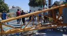 سقوط رافعة العبدلي يعطّل نظام الطاقة الشمسية في مجلس النواب