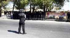 اعتصام للضباط المتقاعدين أمام إشارة النسر في دابوق - صور
