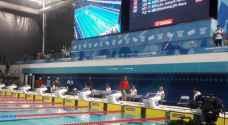 السباح الفلسطيني اندرو قمصية يحصد المركز الاول بسباق 50 م حرة