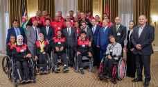 الملك يستقبل أعضاء فريق الهيئة الهاشمية للمصابين العسكريين - صور