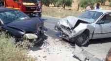 6 إصابات بحادث تصادم في معان
