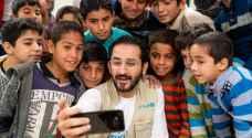 """أحمد حلمي ينشر صوره بين لاجئي """"الزعتري"""".. شاهد"""