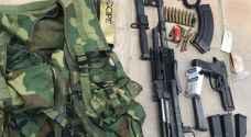 ضبط 7 أشخاص وأسلحة نارية في لواء ناعور