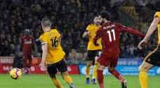 محمد صلاح يقود ليفربول للفوز على وولفرهامبتون والابتعاد في صدارة الدوري الإنجليزي