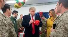 ترمب وزوجته في زيارة مفاجئة للعراق لتفقد القوات الأمريكية