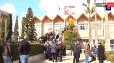 أعضاء الهيئة التدريسية في جامعة اليرموك يواصلون اعتصامهم لليوم الثاني- فيديو