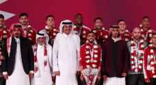 شاهد كيف استقبل أمير قطر لاعبي العنابي المتوجين بلقب آسيا - فيديو