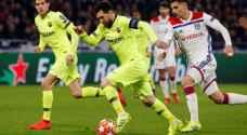 ليون الفرنسي يجبر برشلونة على التعادل في أبطال أوروبا