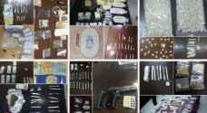 القبض على 36 شخصا من تجار ومتعاطي المواد المخدرة .. صور