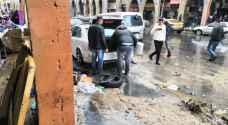 الحاج توفيق: مياه الأمطار تلحق خسائر كبيرة بمحال وسط عمان