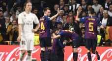 برشلونة يدك شباك ريال مدريد بثلاثية في البيرنابيو ويتأهل لنهائي الكأس