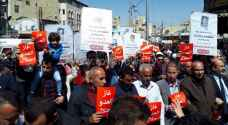 مسيرة بوسط البلد للمطالبة بإسقاط اتفاقية الغاز مع الاحتلال.. فيديو