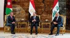 تفاصيل ونص البيان الختامي للقمة الأردنية المصرية العراقية