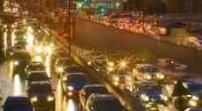 ازدحامات مرورية خانقة في عمّان وسط تساقط غزير للأمطار