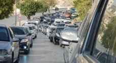 ازدحامات مرورية في مختلف مناطق العاصمة عمان- خرائط