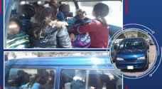 """في عبدون .. ضبط 18 طالبة مدرسة داخل """"باص"""" بلا رخصة قيادة"""