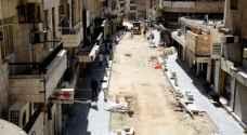 الأمانة: انجاز 70% من أعمال شارع الملك غازي