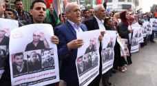 مسيرة بغزة دعما للأسرى المضربين عن الطعام بسجون الاحتلال
