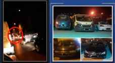 حجز 5 مركبات عطلت حركة السير داخل نفق الشرق الاوسط بعمان - فيديو