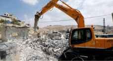 الاحتلال يهدم منشآت سكنية وزراعية في القدس