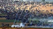 """الفلسطينيون في غزة يشاركون بجمعة """"الجولان عربية سورية"""""""