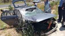 اصابة متوسطة بحادث تدهور في جرش - صور