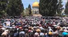 180 ألف مصل أدوا صلاة الجمعة الأولى لرمضان في المسجد الأقصى
