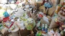 إتلاف مواد غذائية منتهية الصلاحية في مادبا