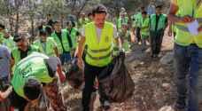 """ولي العهد يشارك في الحملة الوطنية للنظافة """"بلدك بيتك"""" - صور"""