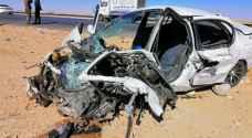 5 إصابات بحادث تصادم على الطريق الصحراوي
