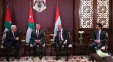 ولي العهد ينشر صور برفقة الملك والرئيسين العراقي والفلسطيني