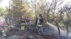 الدفاع المدني يخمد حريق بـ200 دونم في اربد